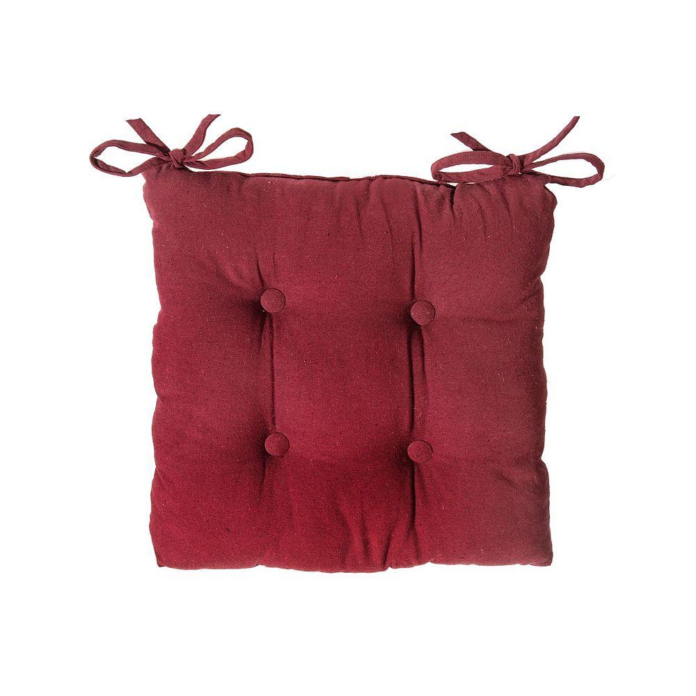 "IH Casa Decor Chair Pad (18"" X 18"") (Burgundy)-Set of 2"