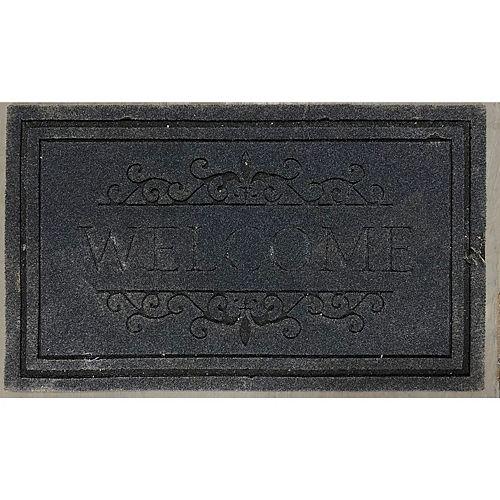Heavy Rubber Door Mat (18 X 30) (Welcome - Black)