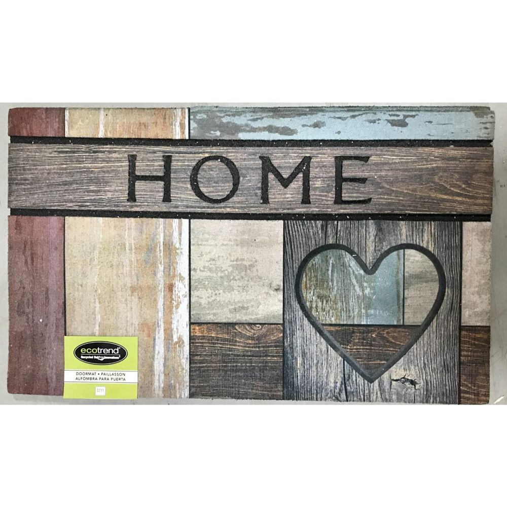 IH Casa Decor Heavy Rubber Door Mat (18X30) (Home Heart)