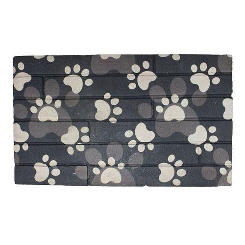 Heavy Rubber Door Mat (18 X 30) (Paw Prints)