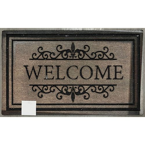 Heavy Rubber Door Mat (18 X 30) (Welcome - Brown)