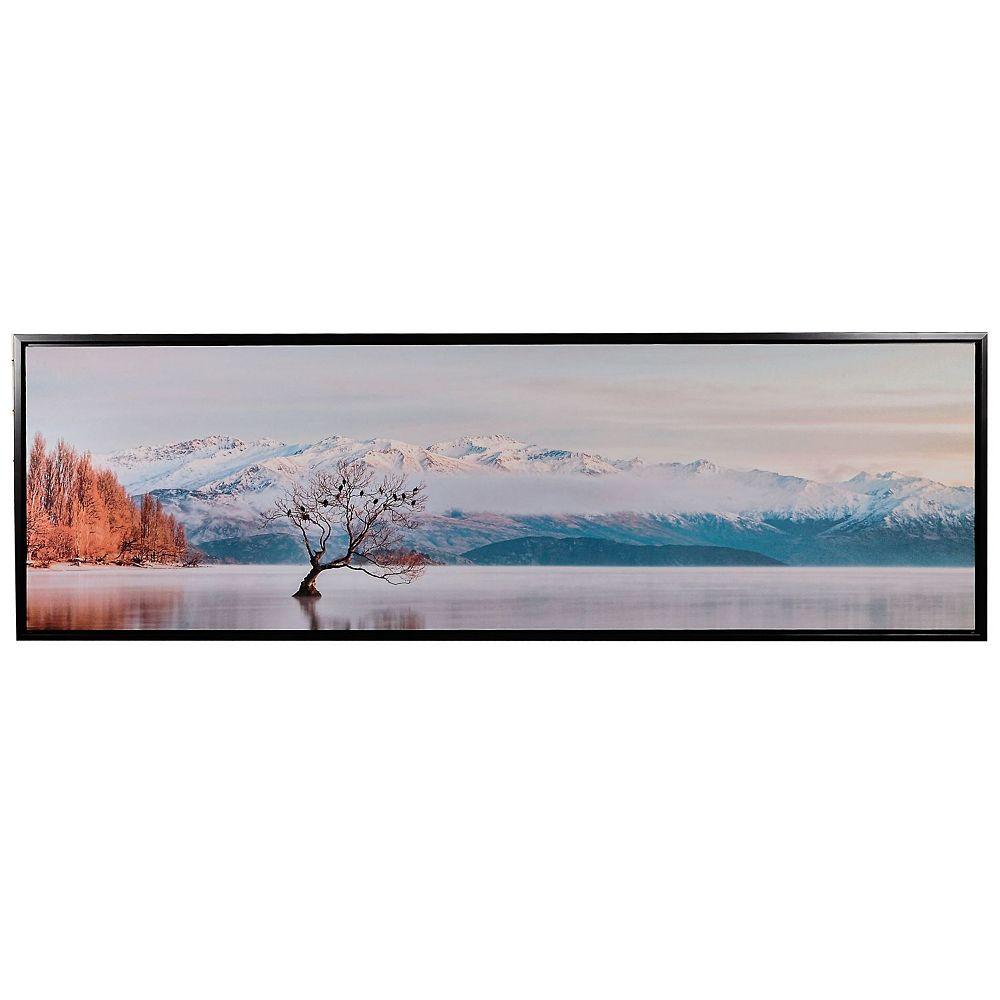 IH Casa Decor Framed Canvas Wall Art (Winter Chill) (18 X 55)