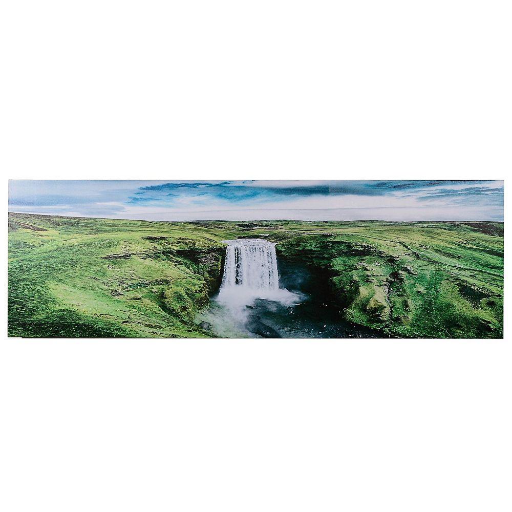 IH Casa Decor Canvas Wall Art (Hidden Waterfall) (18 X 55)