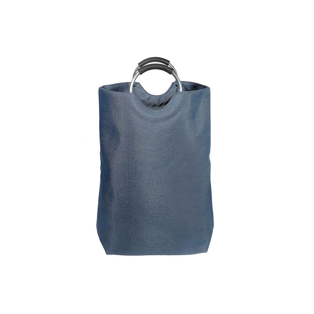 IH Casa Decor Rect. Laundry Hamper With Hoop Handle (Blue)