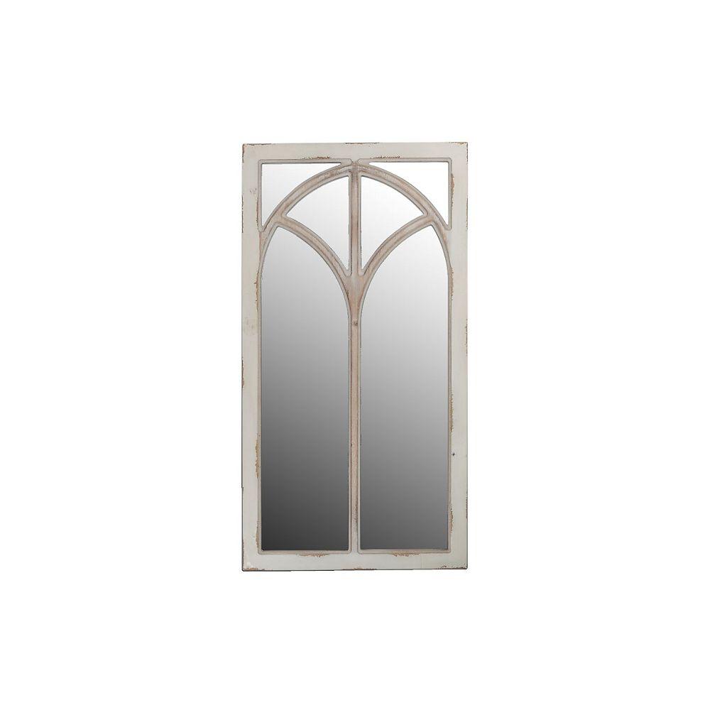 IH Casa Decor Rect. Distressed Wood Window Pane Mirror