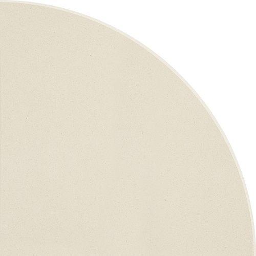 8.9-inch Polished Engineered Stone Round Corner Shelf Ivory