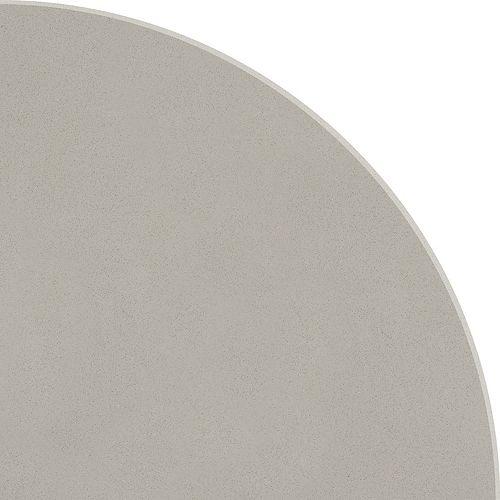 8.9-inch Polished Engineered Stone Round Corner Shelf Warm Grey