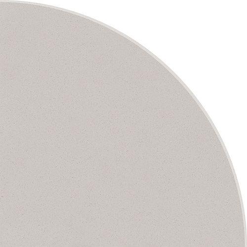 8.9-inch Polished Engineered Stone Round Corner Shelf Grey