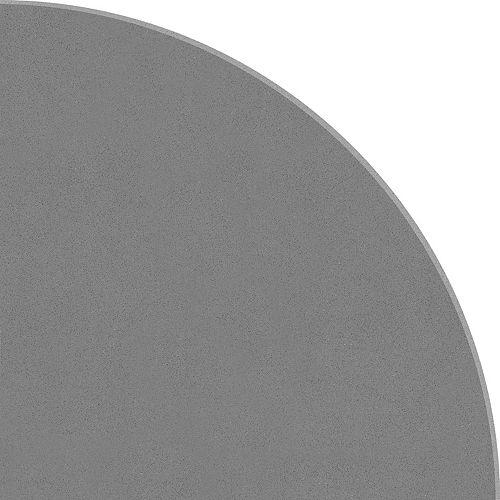 8.9-inch Polished Engineered Stone Round Corner Shelf Dark Grey