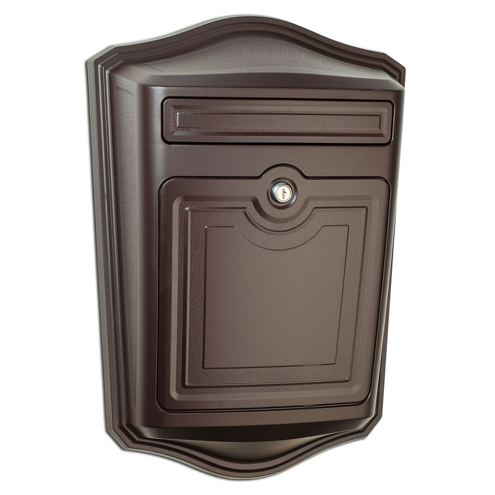 Architectural Mailboxes Maison Locking Wall Mount Mailbox Rubbed Bronze