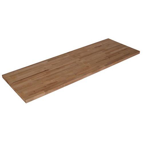 120-inch L x 25-inch W x 1.5-inch T Unfinished Birch Butcher Block Countertop