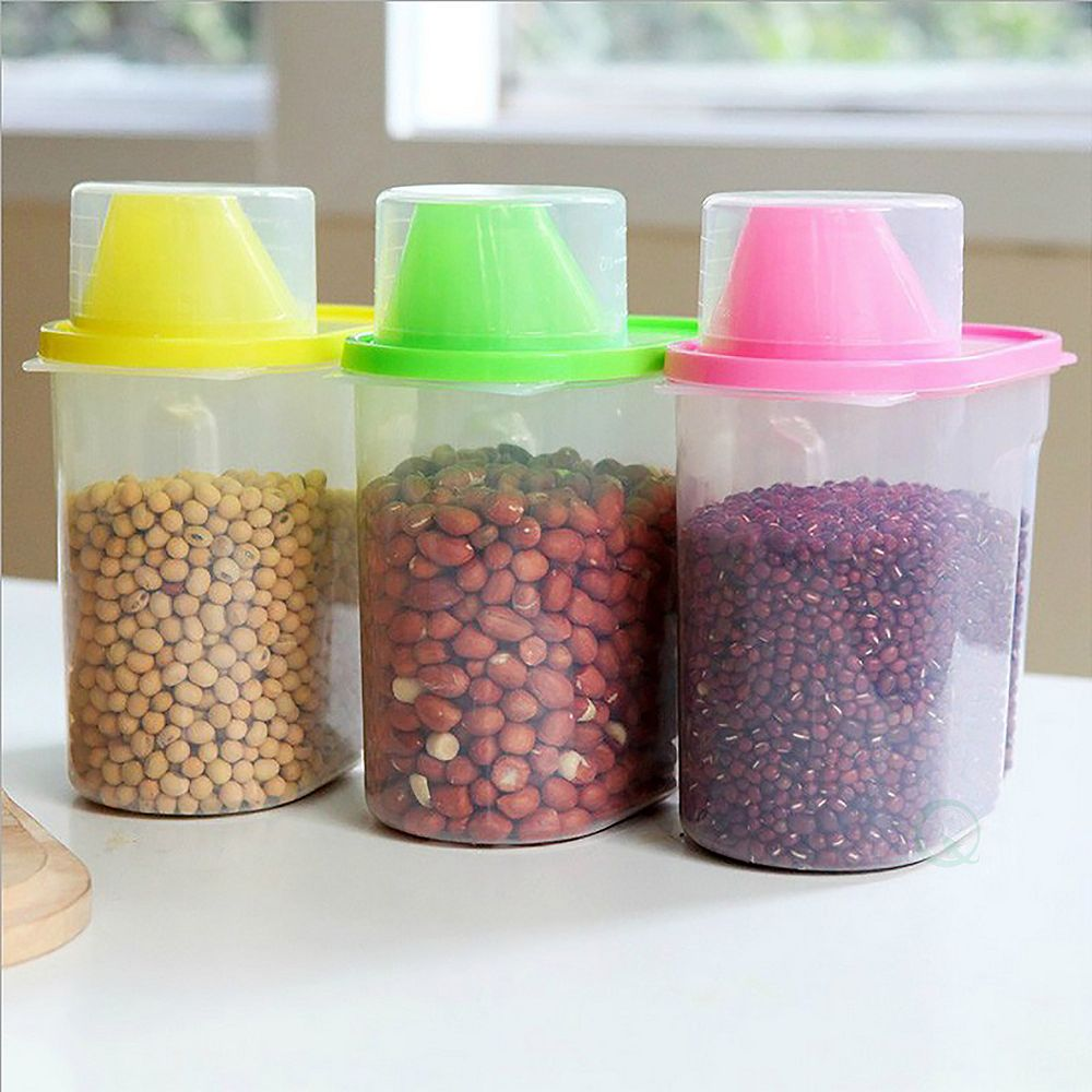 Basicwise Food Cereal Storage Containers