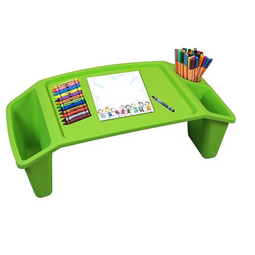 Kids Lap Desk Tray, Portable Activity Table, Green