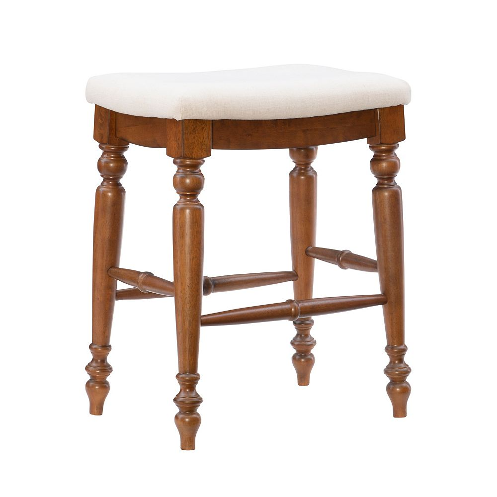 Linon Home Décor Products Marino Backless Counter Stool Walnut