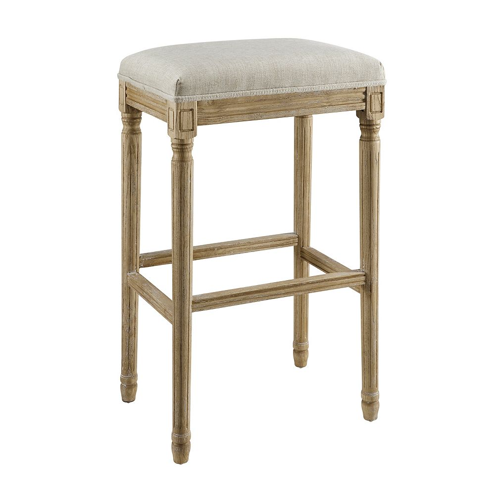 Linon Home Décor Products Mclellan Backless Barstool Natural