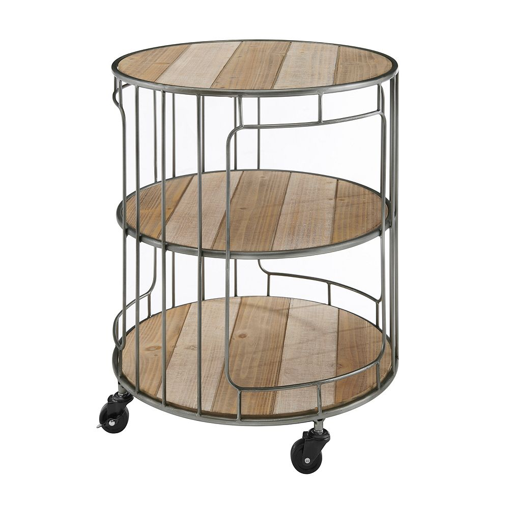 Linon Home Décor Products Slater Three Tiered Rolling Cart