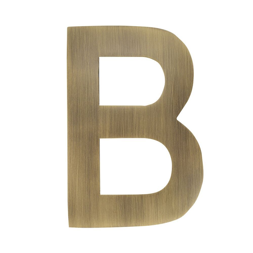Architectural Mailboxes 4 inch Floating House Letter B, Antique Brass
