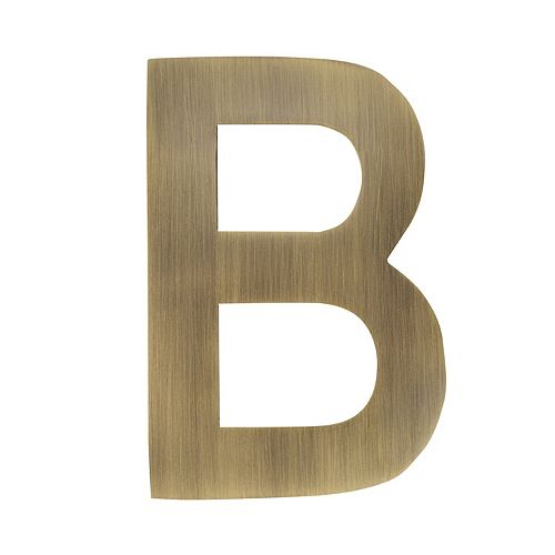 4 inch Floating House Letter B, Antique Brass