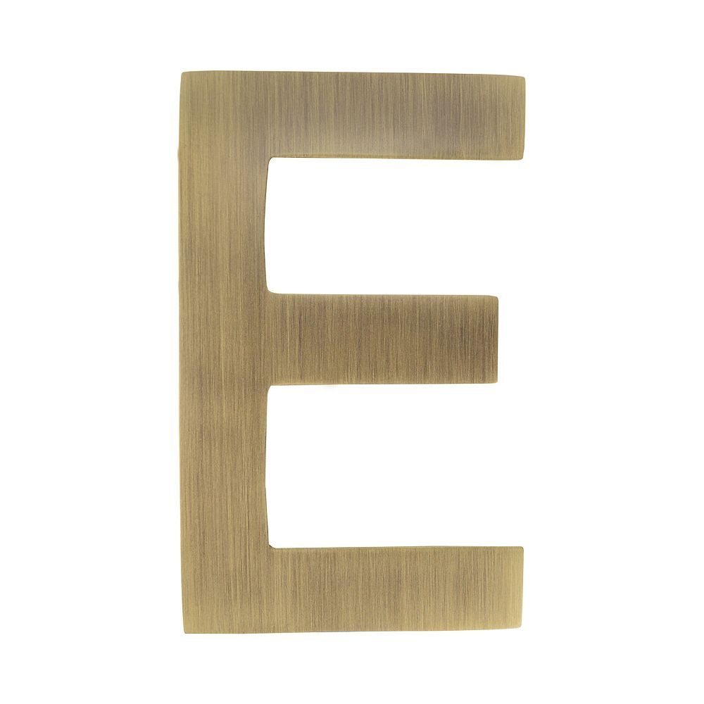 Architectural Mailboxes 4 inch Floating House Letter E, Antique Brass