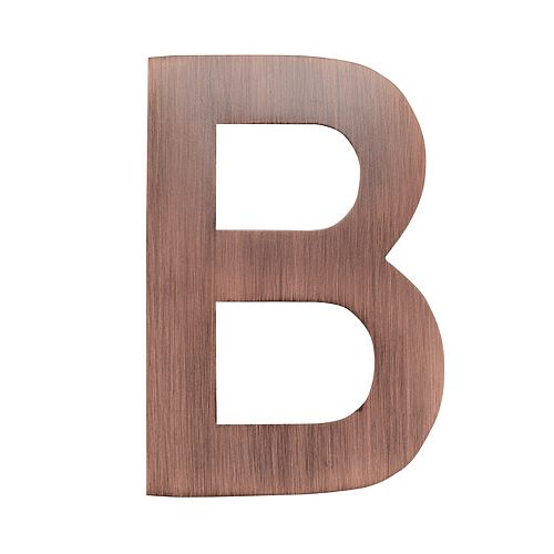 4 inch Floating House Letter B, Antique Copper