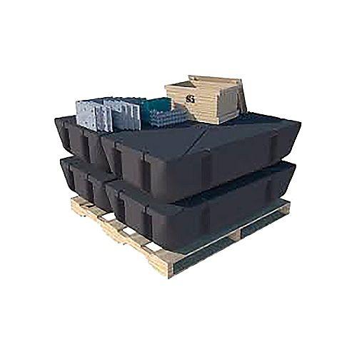 Dock Edge Floating Dock Kit 6ft x 16ft (Just add Lumber)