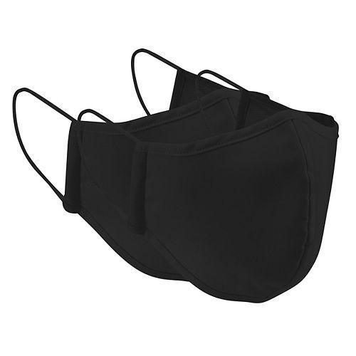 Reusable Black Cloth Masks 2 Pack