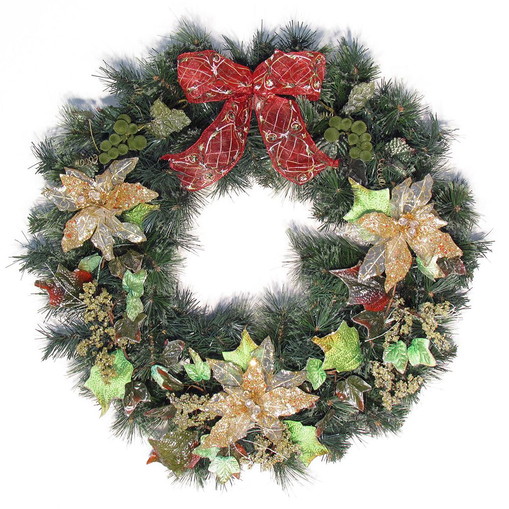 Henryka Ltd 30' Decorated Wreath With Bow