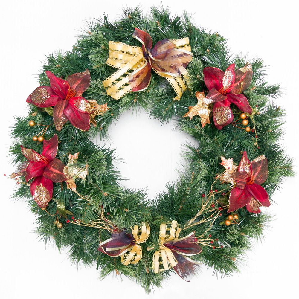 Henryka Ltd 30' Decorated Wreath With Flowers