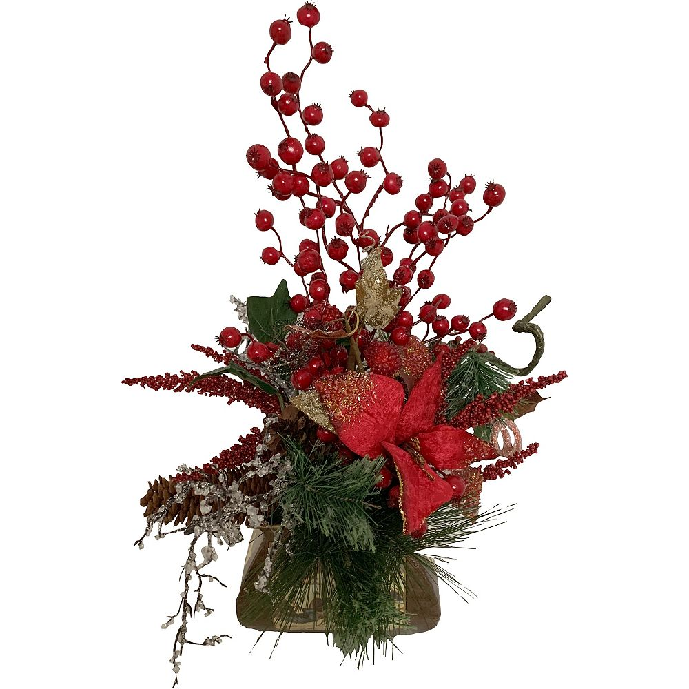 Henryka Ltd Decorated Christmas Pot Red
