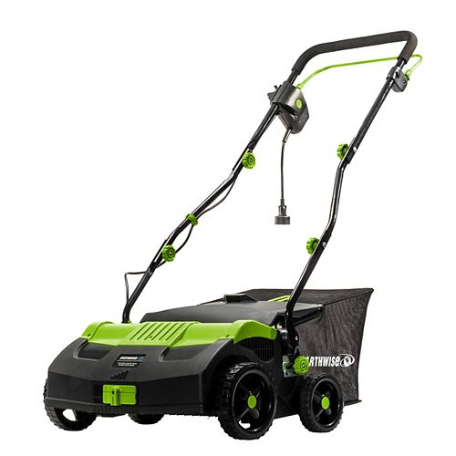 """Earthwise 16"""" 13Amp Corded Electric Lawn Scarifier Dethatcher"""