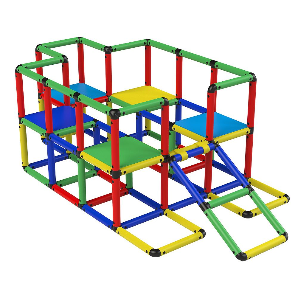 """Funphix Corp Funphix """"Jumbo"""" 467 Piece Construction Toy Set -Structures for Indoors & Outdoors-Ages 2 to 12"""