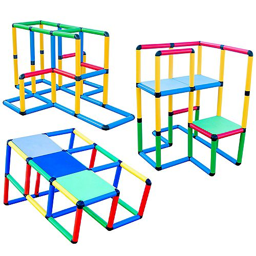 """Funphix """"Standard"""" 199 Piece Construction Toy Set - Building play-structures for Indoors & Outdoors"""