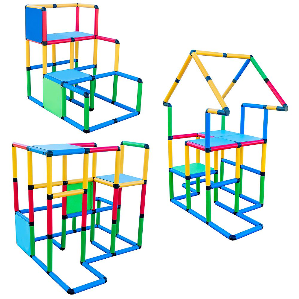 """Funphix Corp Funphix """"Deluxe"""" 296 Piece Construction Toy Set - Building play-structures for Indoors & Outdoors"""