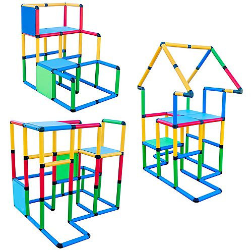 """Funphix """"Deluxe"""" 296 Piece Construction Toy Set - Building play-structures for Indoors & Outdoors"""