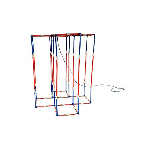 Funphix Large Sprinklers Set with Poles and Hose - Build Houses and More!
