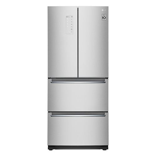 LG Electronics 30-inch 14.3 cu. ft. French Door Specialty (Kimchi & Sushi) Refrigerator in Platinum Silver - ENERGY STAR®