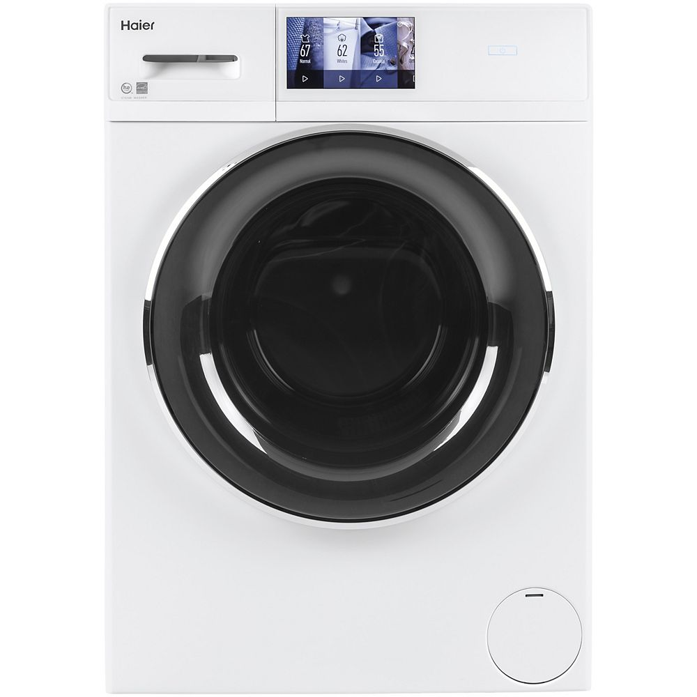 Haier 2.8 Cu. Ft. Smart High-Efficiency Stackable Compact Front Load Washer - White
