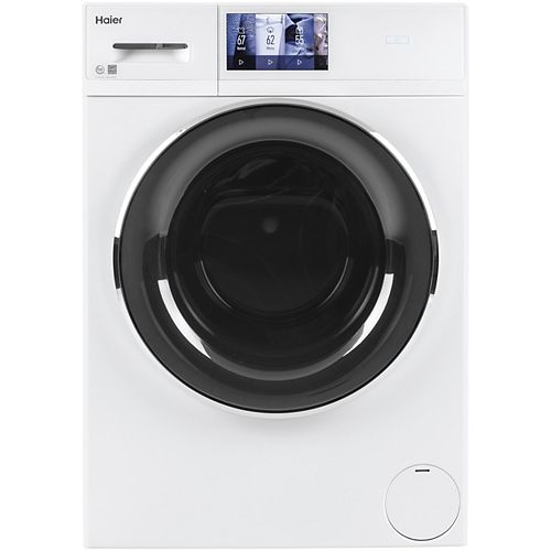 2.8 Cu. Ft. Smart High-Efficiency Stackable Compact Front Load Washer - White