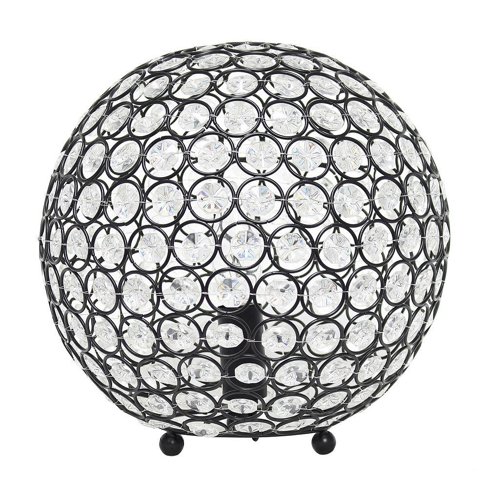 Elegant Designs 10 inch  10 Inch Crystal Ball Sequin Table Lamp, Restoration Bronze