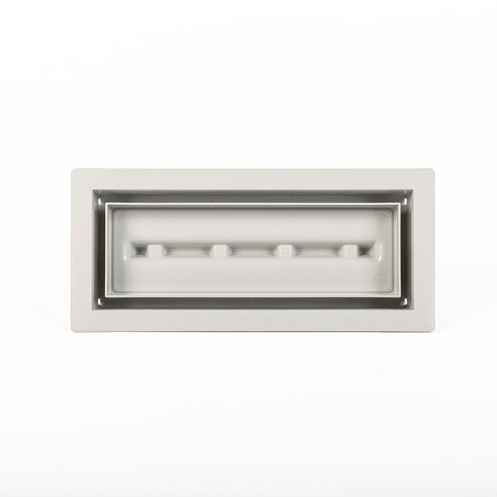 Aria Vent Inc. Aria Lite 4 inch x10 inch Vent Cover Grey
