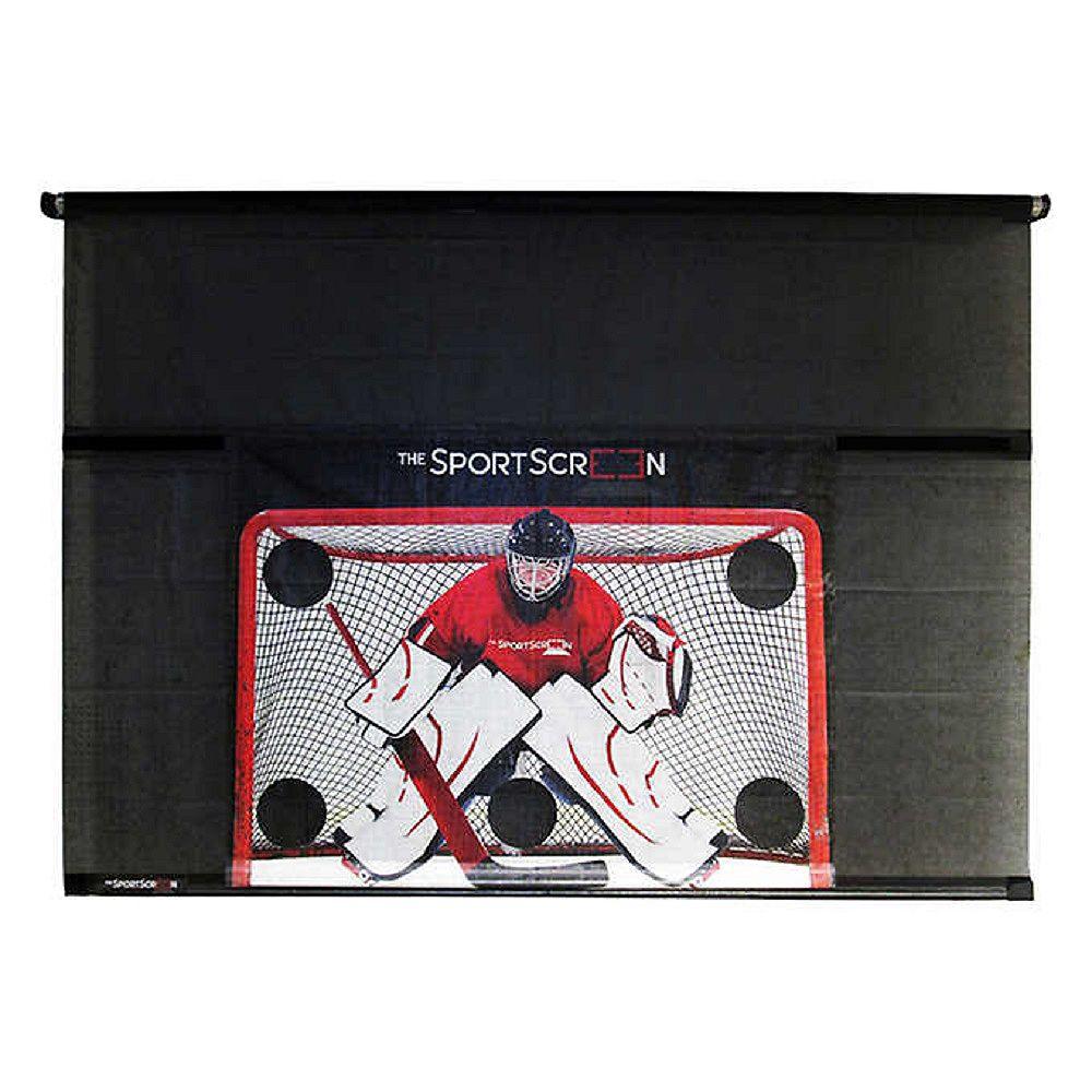 Sportscreen The SportScreen 3.05 m (10 ft.) Manual Screen with Detachable Hockey Target