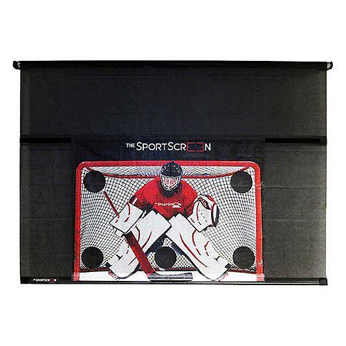 The SportScreen - 3,05 m (10 pi) Écran manuel avec la cible de hockey détachable