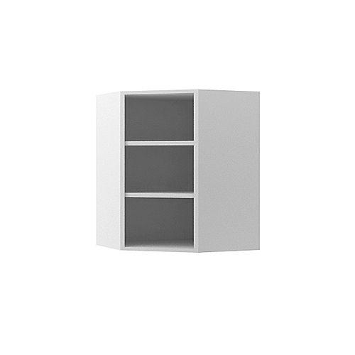 Wall Diagonal Corner Cabinet 24 x 30 inch White