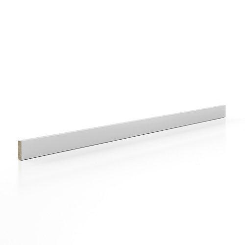 Molding 2 1/2 x 93 inch - White Matt Thermofoil