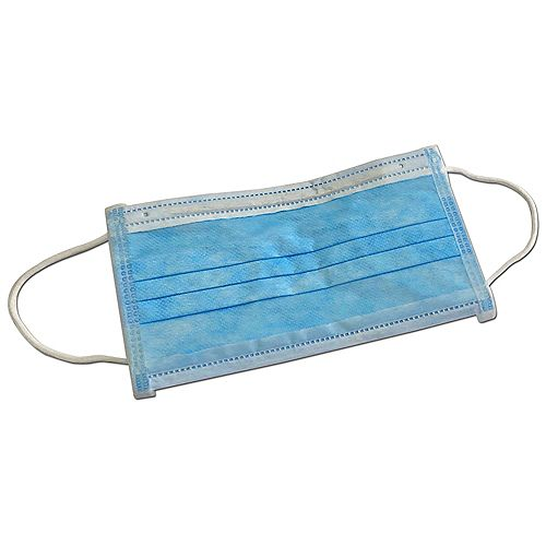 Disposable Blue Ear-Loop Face Mask - 10 Pack