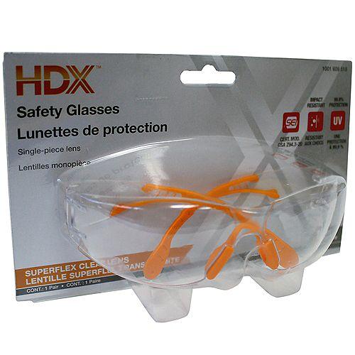 Lentille de protection superflex transparente