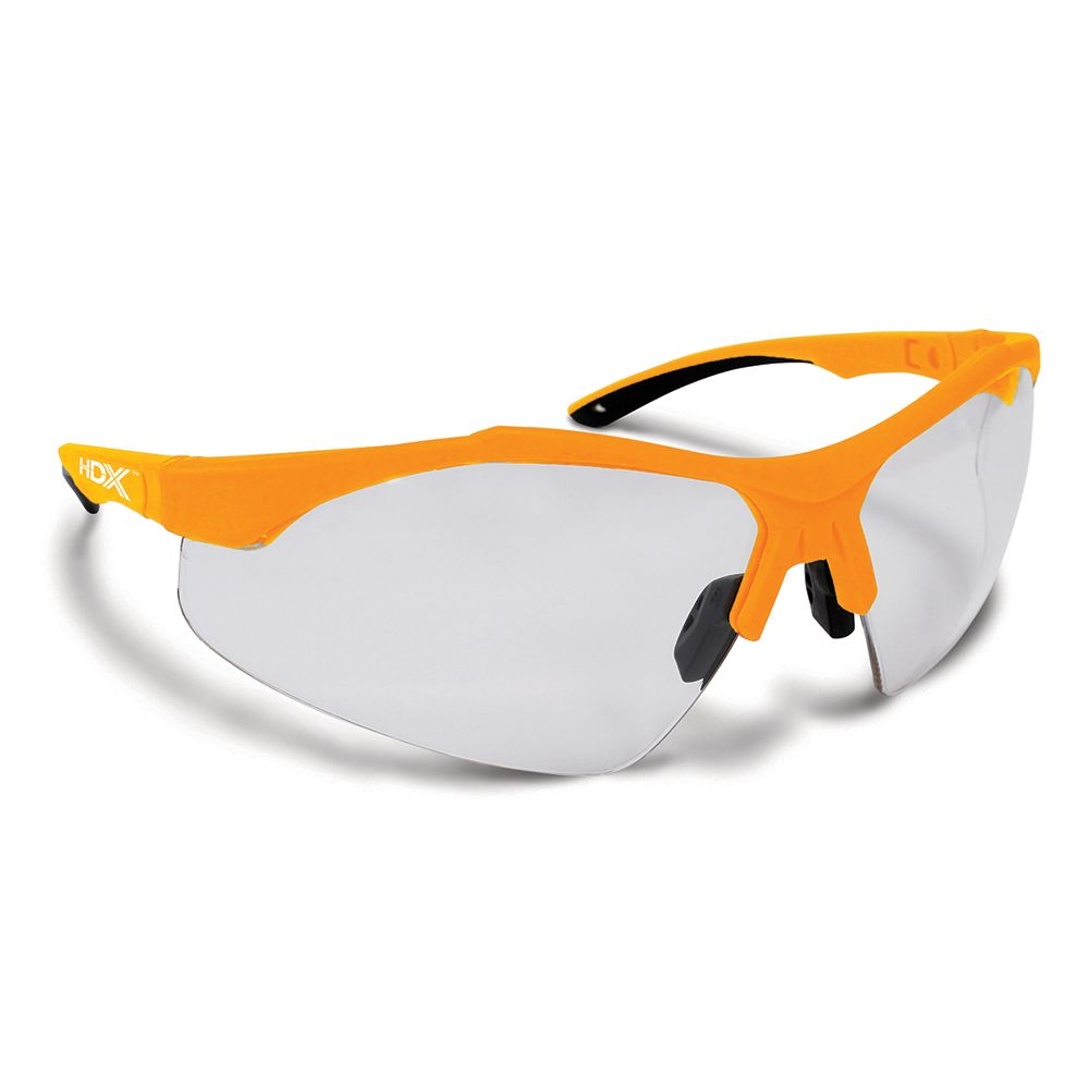HDX Clear Lens Safety Glasses with Half-Frame