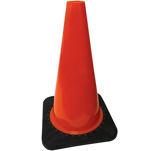 18 inch Traffic Cone with 3lb Base