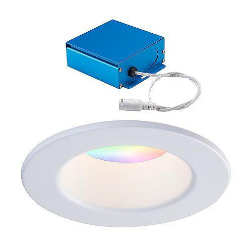 4-INCH LED WHITE WIZ SMART RGBW RECESSED BAFFLE FIXTURE