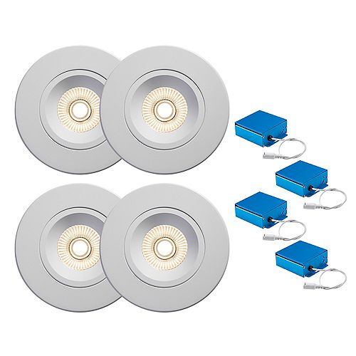 SPEX LIGHTING by Liteline 4-INCH LED WHITE CCT REGRESSED GIMBAL RECESSED FIXTURES (4-PACK)